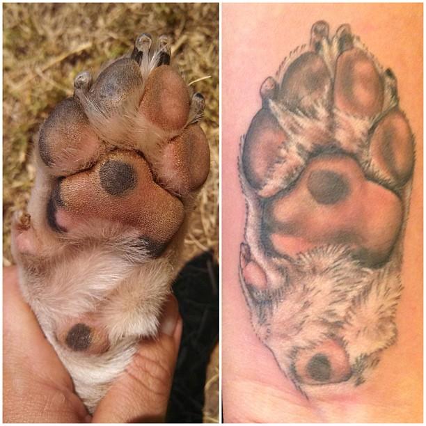 dog print tattoo