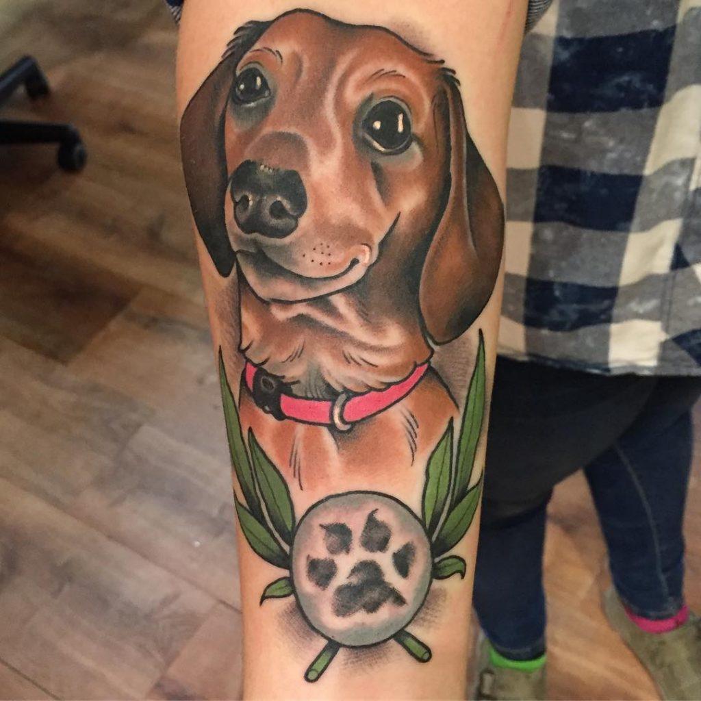 dog print tattoos