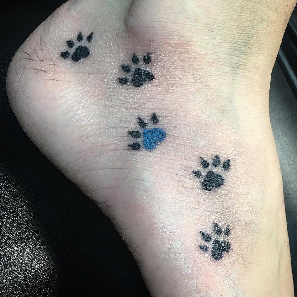 dog paw print tattoos